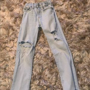 Kids distressed skinny jeans